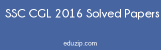 SSC CGL 2016 Exam Answer Keys