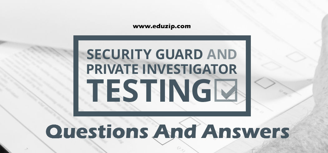 Ontario Security Guard Test 2019 Questions And Answers For