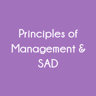 Principles of Management & SAD Multiple choice Questions and